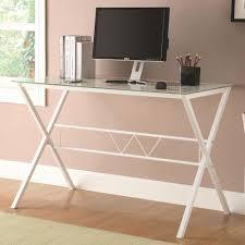 white desk glass top ideas