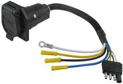 adapters wiring etrailer com 4 pin to 7 pin trailer adapter autozone at Trailer Hitch Wiring Harness Adapter