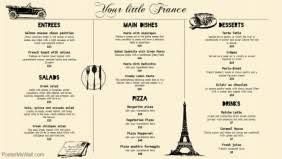 french menu template customize french menu templates in minutes postermywall