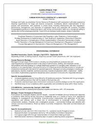 Human Resources Generalist Resume Template New Useful Senior Hr