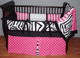 hot pink zebra baby bedding set