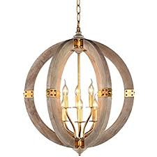 wooden chandelier lighting. Docheer Orb Wooden Chandelier Vintage Wood Metal 6-Light Rustic Iron Pendant Hanging Lighting
