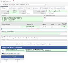 Data Entry On Assertive Discipline Form Aeries Software