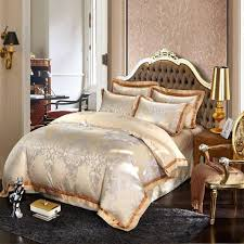 um image for blue and gold duvet covers silk bed linen satin jacquard gold red purple