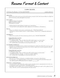 Formats For Resumes New Professional Resume Format For Experienced Free Download And Formats