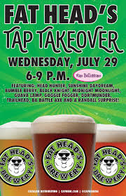 fat head s tap takeover cavalier distributing vino bellissimo will be hosting a fat head s tap takeover featuring head hunter sunshine daydream bumble berry black knight midnight moonlight