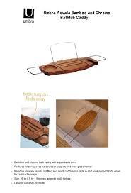 umbra aquala bamboo and chrome bathtub caddy canada thevote