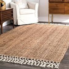 nuloom jute rug handmade chunky jute wool tassel natural rug nuloom jute rug 8x10