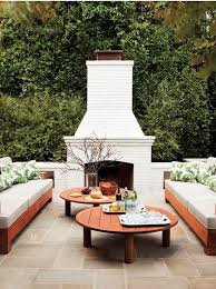 22 awesome outdoor patio furniture options and ideas the fireplaceoutside fireplacewhite brick