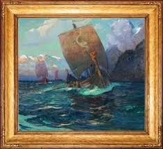 viking ships william ritschel