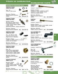 pièces de carburateur carburetor parts pdf carburetors briggs stratton 398188 no 2916 injecteur nozzle longueur length 2 7