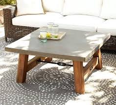 large outdoor coffee table extra concrete top