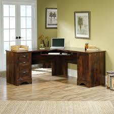modern corner computer desk corner computer desk sauder palladia l shaped desk in select cherry 36