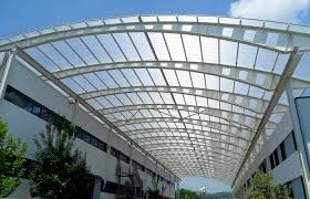 solar polycarbonate corrugated panel in gray best translucent roof panels