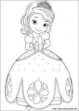 Small Picture Fancy Idea Sofia Coloring Pages Princess Sofia Page Cecilymae