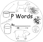 P Words Early Reader Book Enchantedlearning Com
