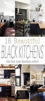 22 Beautiful Black Kitchens That Are Trending Hot The Cottage Market Black Kitchens New Kitchen Black Appliances Kitchen