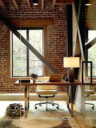 rustic home office ideas. Rustic Office Decor Full Image For Exposed Brick Wall Backdrop Is Perfect Home Ideas