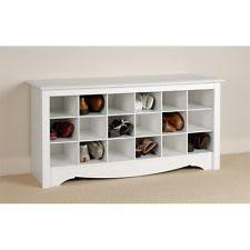 prepac ashley shoe storage bench white. Prepac White Shoe Storage Cubbie Bench Ashley N