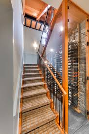 transitional under the staircase wine cellar