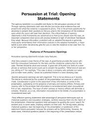 Opening Statement For A Resume Resume For Your Job Application