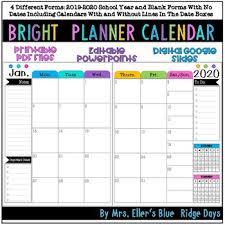 Google Docs Powerpoint Bright Calendar Planner Google Docs Editable Powerpoint And Printable