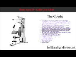 Best Home Gyms Reviews Golds Gym Xr45 Youtube
