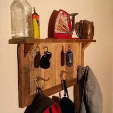Key Coat Rack Simple Pallet Coat Rack Recycled Pallet Coat Rack And Key Organizer Wood
