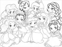 Small Picture Baby Disney Princess Characters Coloring Pages princess