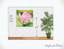 hanging instructions how to hang wall art wayfair s ideas advice on wall art hanging height with how to hang wall art wayfair