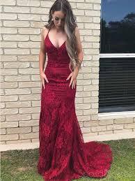 <b>Sexy</b> Backless <b>Red Mermaid</b> Lace Long Evening <b>Prom</b> Dresses ...