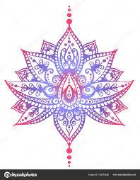 эскиз татуировки индийского орнамента векторное изображение