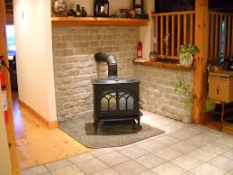 wood stove wall protection cement board installation