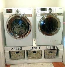 washing machine pedestal build washer dryer photo of pedestals diy laundry wooden and
