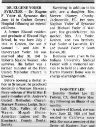 Eugene Fields Yoder obituary - Newspapers.com