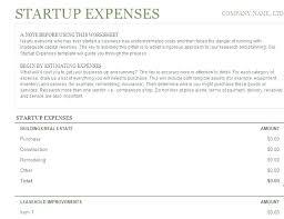 Startup Cost Template Startup Financials Template