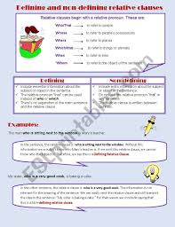In your example 'all' is a pronoun and 'that was left' is a relative clause describing it; Defining And Non Defining Relative Clauses Esl Worksheet By Ivettemoreno