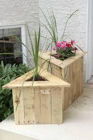Flower box design Garden 17 Diy Triangular Wood Porch Diy Planters Homebnc 32 Best Diy Pallet And Wood Planter Box Ideas And Designs For 2019
