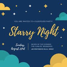 sleepover template customize 60 sleepover invitation templates online canva