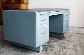 Industrial Tanker Desk by Steel Age, Refurbished For Sale