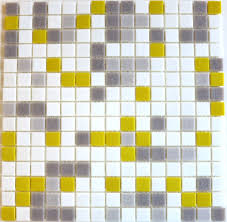 brio city sunshine blend glass mosaic tile 3 4 multicolor yellow gray and white