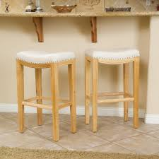 backless counter height stools white