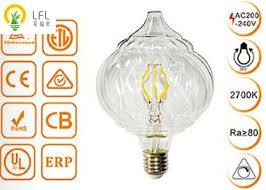 clear glass decorative led light bulbs dimmable tip pumpkin led chandelier bulbs