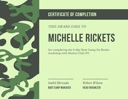 Employee Of The Quarter Certificate Free Printable Camping Certificate Templates Boot Camp
