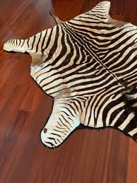 authentic african zebra skin hide rug