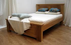 solid wood bed frame with posts