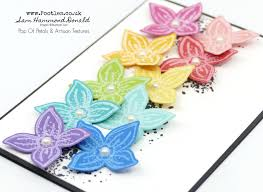 4 Petal Flower Paper Punch A Rainbow Pop Of Petals In Brights And White Stampin Up Handmade