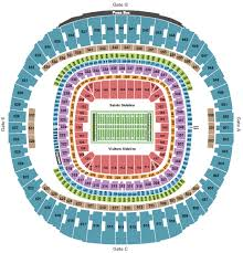 Mercedes Benz Superdome Seating Chart Section Row Seat