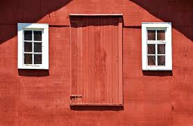 red barn doors. Americana Photograph - Rustic Red Barn Door With Two White Wood Windows By David Letts Doors