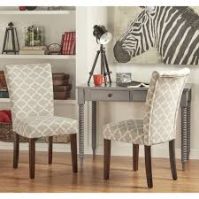 catherine moroccan pattern fabric parsons dining chair set of 2